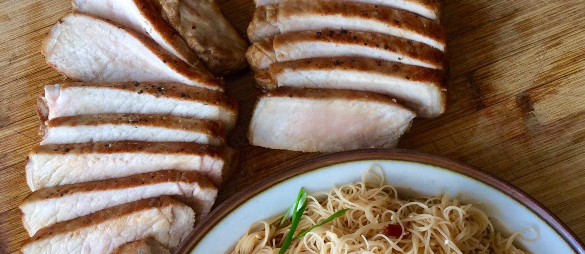 Allspice Pork Chops & Easy Sambal Vermicelli
