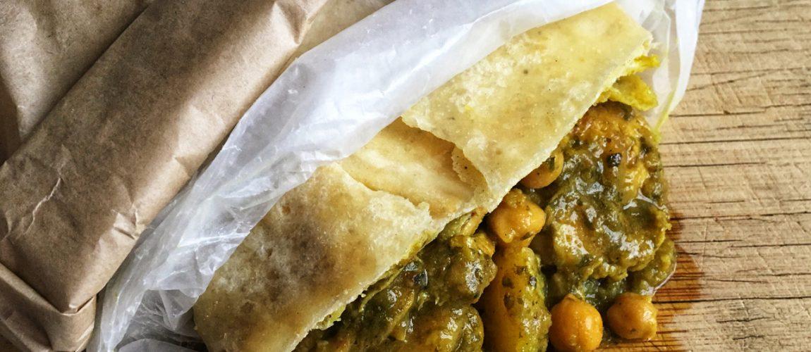Curry Chicken Roti