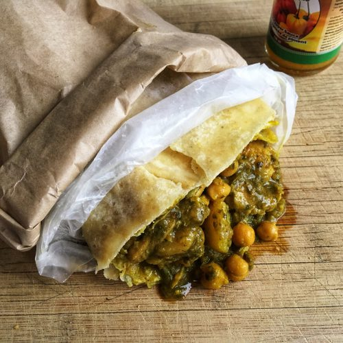 Curry Chicken Roti