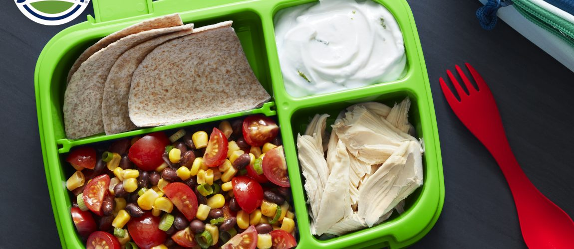 """SUNSET® One Sweet® Taco Bento Pulled Chicken """"Bento"""" with One Sweet® Tomato Black Bean Salsa"""