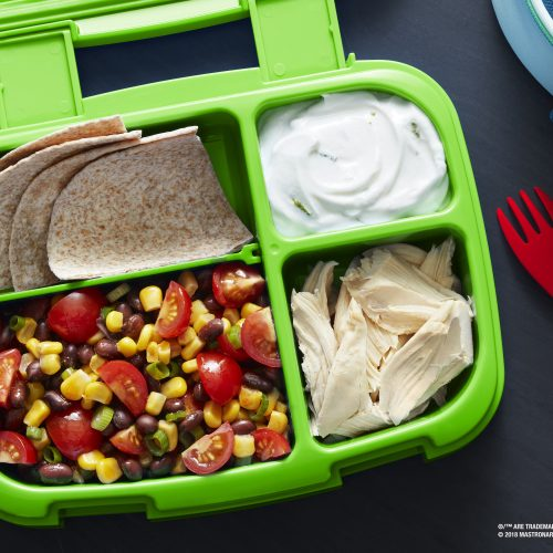 "SUNSET® One Sweet® Taco Bento Pulled Chicken ""Bento"" with One Sweet® Tomato Black Bean Salsa"