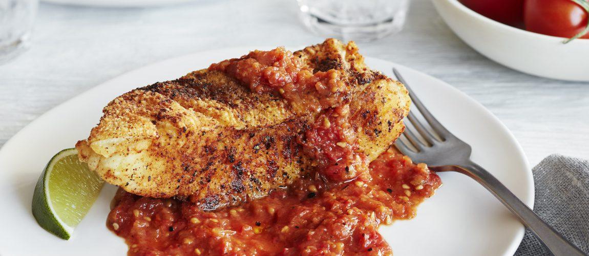 SUNSET® – Spicy Campari® Fried Halibut
