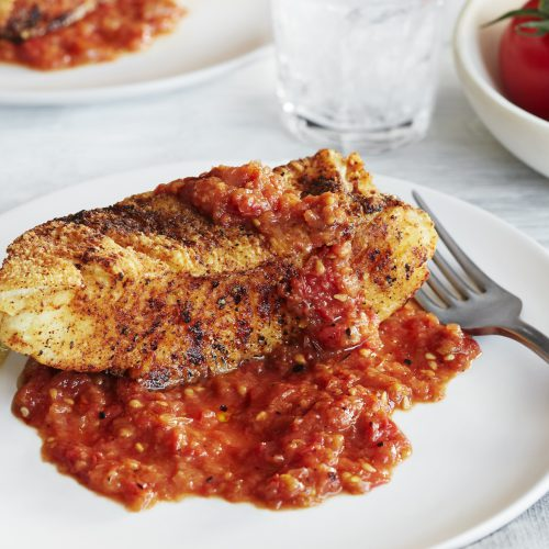 SUNSET® – Spicy Campari® Fried Halibut