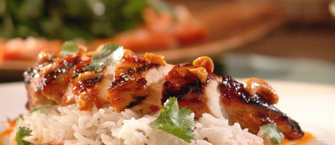 Chicken with Papaya Barbecue Sauce