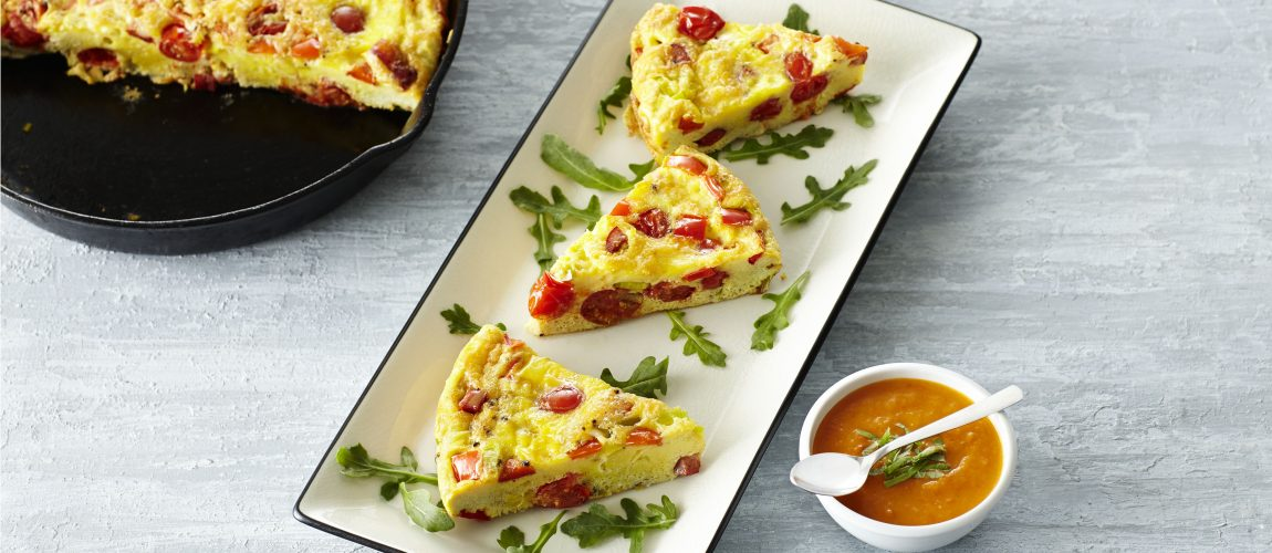 SUNSET® Angel Sweet Frittata With Sour & Sweet Twister Sauce