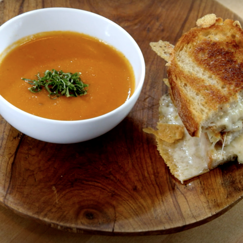 VIDEO – Grilled Cheese and Tomato Soup