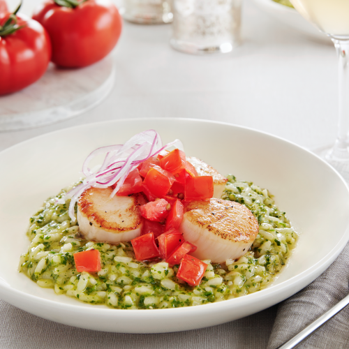 SUNSET® Scallop Arugula Risotto