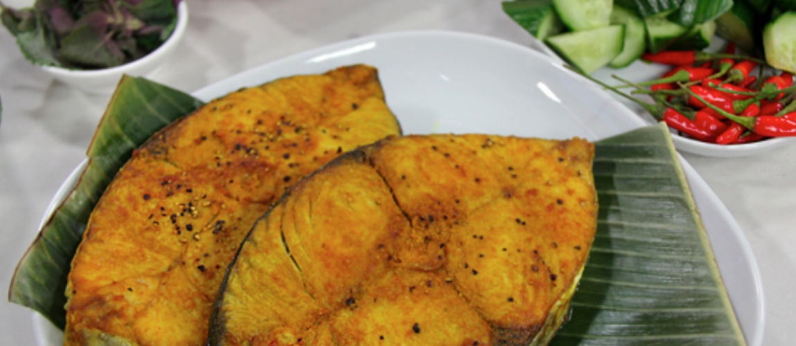 Turmeric Fried Fish & Spiced Pumpkin