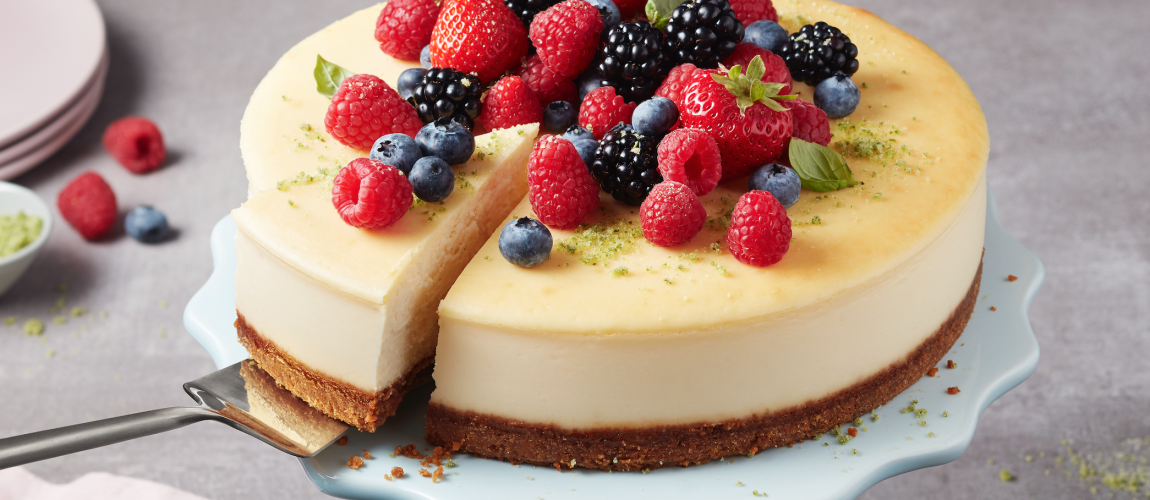 SUNSET® WOW™ Berry Cheesecake with Ginger Crust