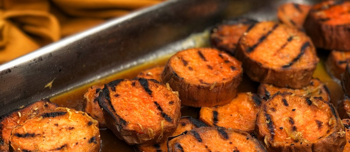 Grilled Candied Sweet Potatoes